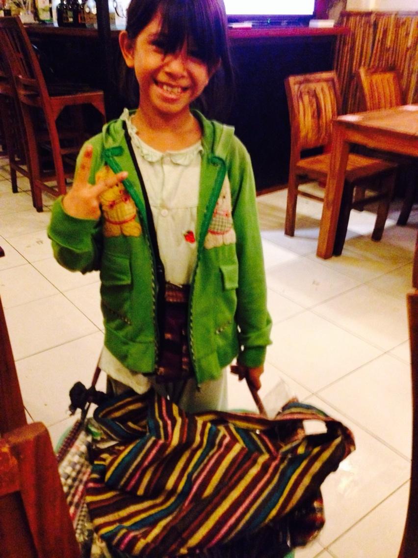 カンボジアの逞しい少女